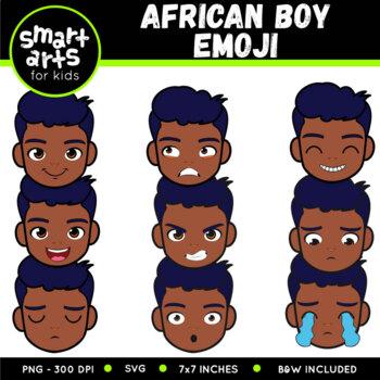 African Boy Emoji Clip Art