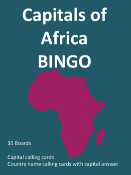 Capitals of Africa BINGO!