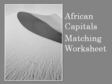 African Capitals Matching Activity- Printable Worksheet