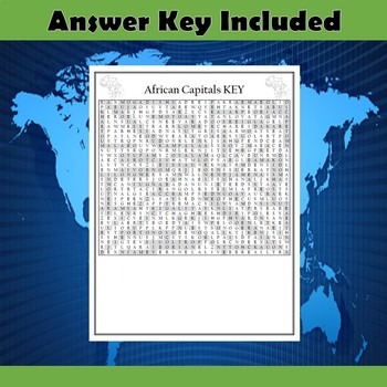 African Capitals Word Search Puzzle Differentiated 2-Pack