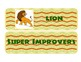 African Cartoon Animals Super Improvers Wall