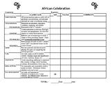 African Celebration Rubric