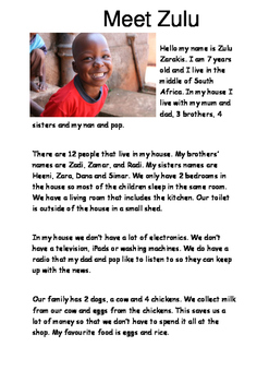 African Children Guided Reading and Questions