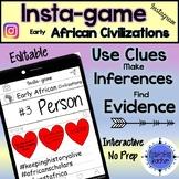 African Civilizations Activity - Instagram (Editable Insta-game)