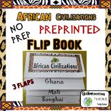 African Civilizations Flip Book Pre-printed (Ghana, Mali, Songhai)
