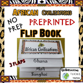African Civilizations Foldable Pre-printed (Ghana, Mali, Songhai)