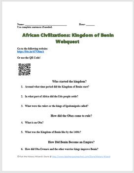 African Civilizations: Kingdom of Benin Webquest