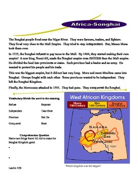 African Civilizations Low Level Readers