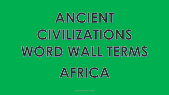 African Civilizations Word Wall Cards