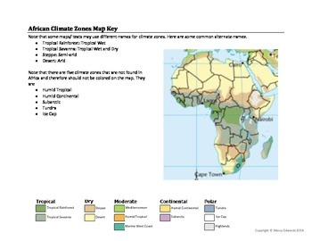 African Climate Zones Map Worksheet