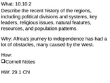 African Colonies become Nations - 29.1 Powerpoint - New Na