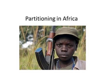 African Conflict, Partitioning - Presentation, Graphic Organizer, Summarizer