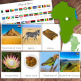 African Continent 3-Part Card Bundle, Montessori Culture Geography
