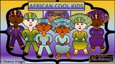 African Cool Kids Cultural Clipart | Black History