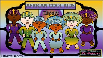 African Cool Kids Cultural Clipart
