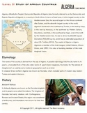 African Countries - Algeria