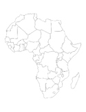 African Countries Map African Countries Outline African Countries Template