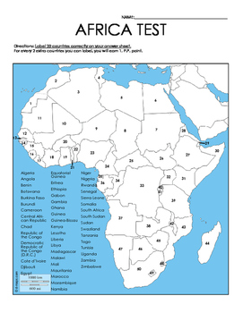 African Countries Test Map