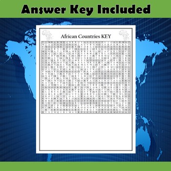 African Countries Word Search Puzzle Differentiated 2-Pack
