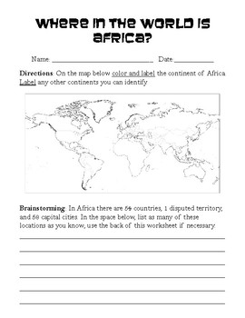 African Countries and Capitals