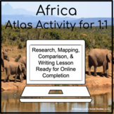 African Countries in Africa Atlas Activity for 1:1 Google
