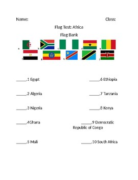 African Country Flag Test