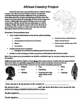 History Africa Geography African Country Project Editable Project Africa Project
