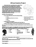 History Africa Geography African Countries Project Black History Month Projects
