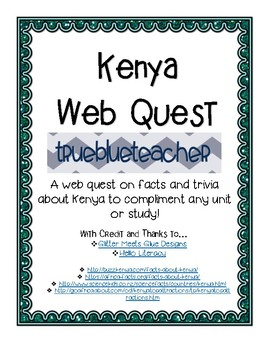 African Country Web Quest - Kenya