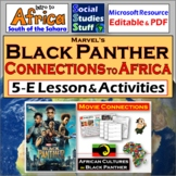 African Cultures in Marvel's Black Panther 5-E Lesson | Distance Learning