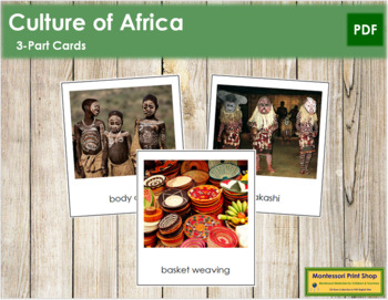 African Culture: 3-Part Cards