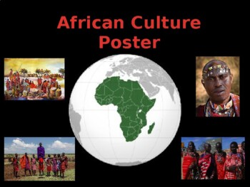 African Culture Poster Project