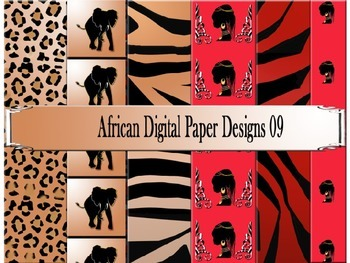 African Digital Paper Designs 09