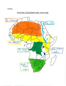 African Ecosystem Packet