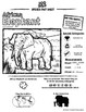 African Elephant -- 10 Resources -- Coloring Pages, Reading & Activities