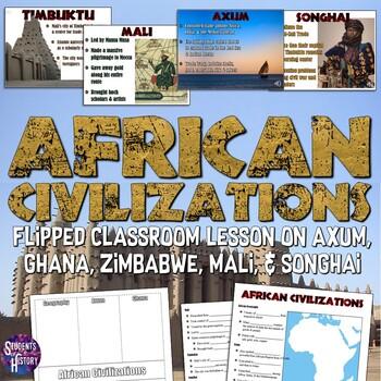 African Empires (Axum, Mali, Songhai, Zimbabwe, & Ghana) PowerPoint Lesson