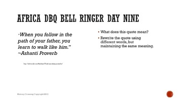 African Empires DBQ Bell Ringers