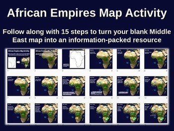 African Empires Map Activity - fun, easy, engaging follow-