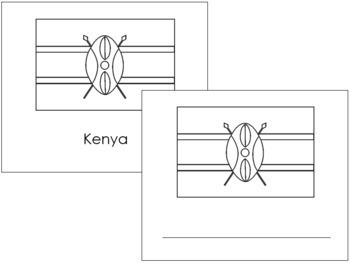 African Flags: Outlines