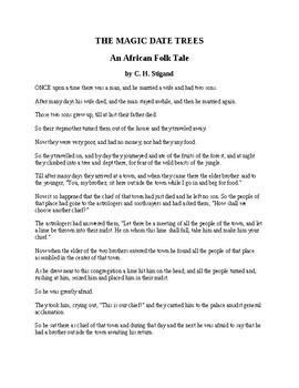 African Folk Tale - The Magic Date Trees