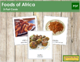 African Food: 3-Part Cards
