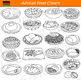 African Food and Dishes Clipart Bundle