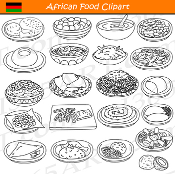 African Food and Dishes Clipart Bundle by I 365 Art ...