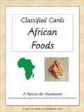 African Foods, Classified Cards, Africa Continent Box, Montessori