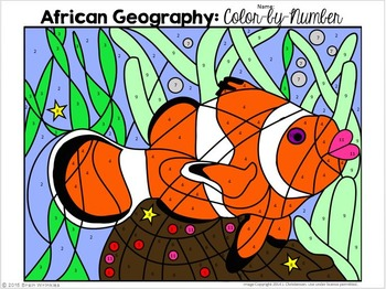 Africa's Geography: Color-by-Number