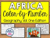 Africa's Geography Vol. One: Color-by-Number (SS7G1)