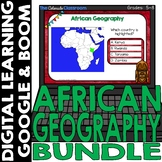 African Map and Geography DIGITAL Cards Bundle | Google Cl