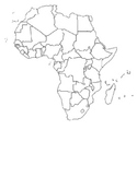 African Geography Map and Critical Thinking Activity, Hand