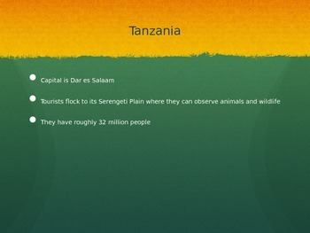 African Geography PowerPoint