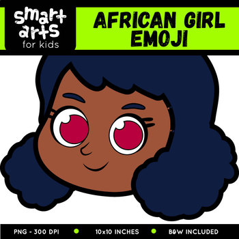 African Girl Emoji Clip Art